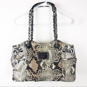 Nicole Miller | Snakeskin Print Hand Bag Purse